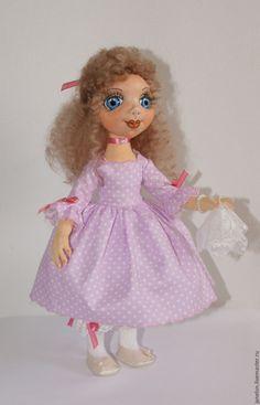 Купить Ева - розовый, горошек, платок, нарядное платье, длинные волосы, серьги, хлопок, трикотаж Princess Peach, Mario, Fictional Characters, Fantasy Characters