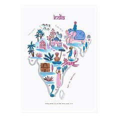 India Map Print - Ayang Cempaka