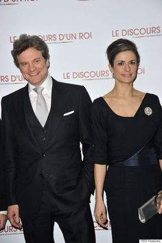 Livia Firth in a dress made from Colin Firth's old suit!