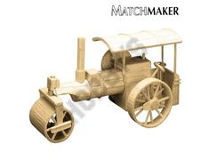 Image of Steam Roller Matchstick Model