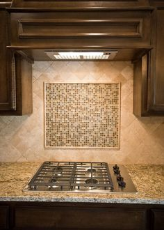 tumbled travertine backsplash | for the home | pinterest