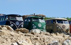 VW Campers On Beach by Scott Dickinson, via Flickr