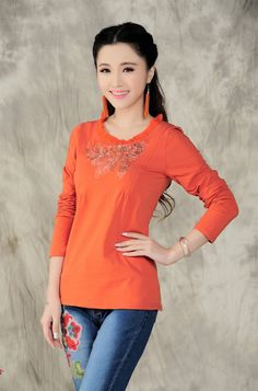 CT06683 Acre round neck bottoming knitted long sleeve T-shirt