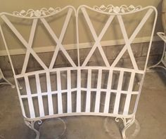 woodard vintage white wrought iron chantilly rose pattern patio curved loveseat