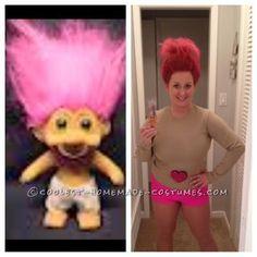 Coolest Homemade Troll Doll Halloween Costume...