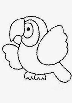 Resultado de imagem para molde papagaio