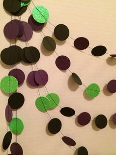 12ft Maleficent Inspired Garland Disney Villans Green Purple Black Party Decoration Birthday Evil Queen Sleeping Beauty Movie Backdrop on Etsy, $15.00