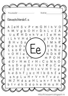 Clasa pregatitoare: Fisa de lucru pentru sunetul si litera E