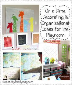 On a Dime Decorating and Organizational Ideas for Your Small Playroom