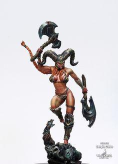 28mm Miniatures, Fantasy Miniatures, Fantasy Character Design, Character Art, Barbarian Armor, Green Lingerie, Fantasy Figures, Science Fiction, Hobbies For Men