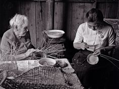 Daisy and Lilly Baker , Last of the Elder Maidu Indian Basket Weavers