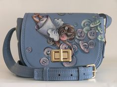 Women bag from a genuine leather with a picture GIRL. by Rossatti, $210.00