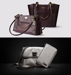 Miche December Customer and Hostess Specials -- Get a free Metallic Silver Hip Bag or clutch with qualifying purchase. Host a qualifying party and get a Luxe shell half price! #miche #handbags #luxe