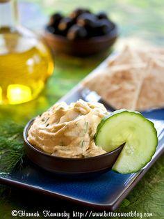 Hummiki (Hummus-Tzatziki)   recipe via Hannah Kaminsky   #vegan #glutenfree