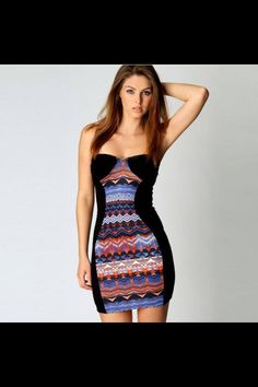 Cool tribal pattern dress