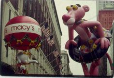 Hmmm....wonder how many people it takes to guide a Macy's Day floating balloon down the parade route.
