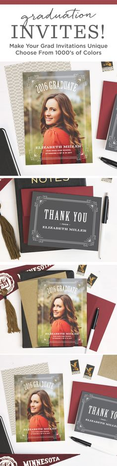 Design personal and quality invitations to announce your graduation with Basic Invite this 2016 season. Choose from our wide selection of themes, colors and fonts to show off your grad�s individual style and personality.