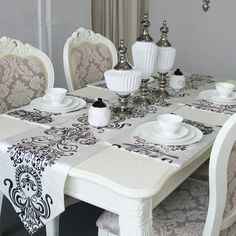 Brief modern style unique pattern table runners decorate table dresser