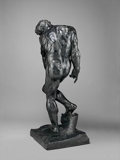 Rodin was strongly influenced by the work of Michelangelo.  The direct experience of the Renaissance master's art, both in the course of his Italian travels in 1875- 76 and in the Musée du Louvre in Paris, seems to have unlocked for Rodin many of the secrets of Michelangelo's modeling