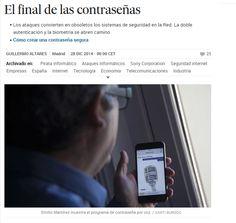 El final de las contraseñas / @el_pais | #readyfordigitalprivacy