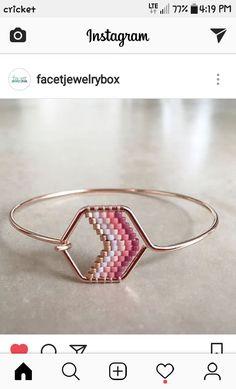 Seed Bead Jewelry, Bead Jewellery, Wire Jewelry, Jewelry Crafts, Beaded Jewelry, Jewelery, Boho Jewelry, Beaded Earrings, Beaded Bracelets