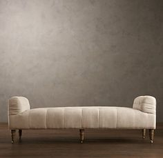 Chaises, Settees  Daybeds | Restoration Hardware RH calls this a tufted Settee - looks like a Daybed to me - this is the basic style I would like but with the 'mattress' look shown on a different daybed...see second picture