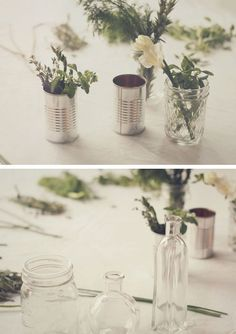 Tiny Pretty Herb Bouquet Centerpieces | Click Pic for 26 DIY Wedding Centerpieces on a Budget | DIY Wedding Decorations for Outside