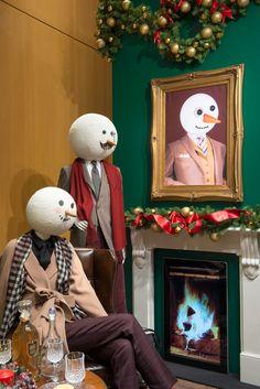 Holiday retail display; visual merchandising; DAKS Christmas Windows, 2014 by Millington Associates | Holiday Windows