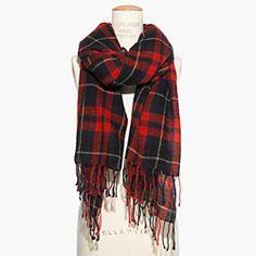 Warm, cozy accessories. Plus, I always love plaid. :)
