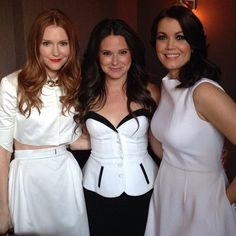 Scandal co-stars Darby Stanchfield, Katie Lowes & Bellamy Young #Scandal  #ItsHandled