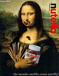 Mona Lisa loves Nutella