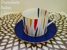 Coffee Cups And Saucers, Cup And Saucer, Cherry Kitchen, Mug Cup, Afternoon Tea, Tea Time, Tea Pots, Creations, Pottery