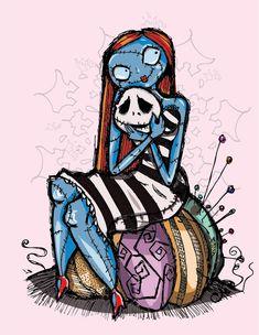 We can Live like Jack and Sally by ~gureitsu on deviantART