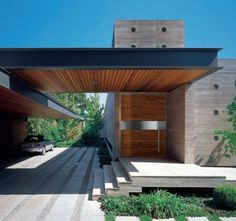 Modern wood door   ... modern statement a wooden door with clean lines for a contemporary