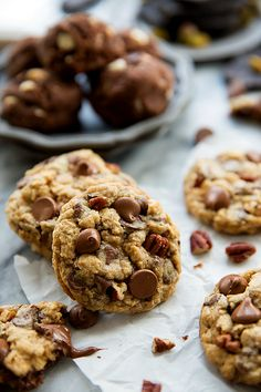 Oatmeal Chocolate Chip Cookies with crunchy pieces of Diamond Pecans! What could be better?!