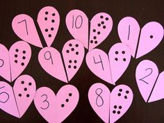 Fun heart number puzzles that teach the kiddos basic math skills. These are simple to make and challenging to put together.