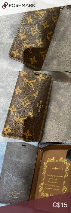 Iphone X case Iphone X Louis Vuitton case  Of course not authentic but in usable condition A flip flop case as shown in the pictures Accessories Phone Cases