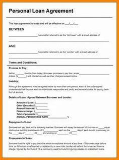 Bad Credit Loans Monthly Payments >> 5+ sample loan agreement letter between friends   Purchase ...