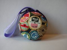 Macaroon Coin Purse Vintage Sewing Reels by TheHomemadeHaven, £12.00