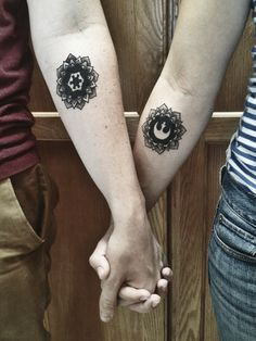 sex-bom-omb:  beccacanhazcat:  coffee—queen:  fuckyeahtattoos:  Done at Fat Kid Tattoo in Escondido, CA  DAMN OK   I would so get these as matching.