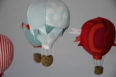 Cloth Hot Air Balloon Mobile :) If She can make, so can I!