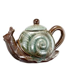 Take a look at this Ceramic Snail Teapot today!