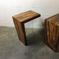 Waterfall Walnut End Tables