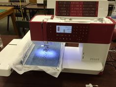 FindXDesigns.  Fabric and yarn store.  Sanford NC.     This is the new creative 1.5  embroidery machine . It has a scissor cutter and comes with a USB stick full of embroidery designs and many other neat features but at an affordable price.
