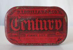 CENTURY POCKET TOBACCO ANTIQUE RARE TIN, P. LORILLARD & CO., JERSEY CITY, NJ