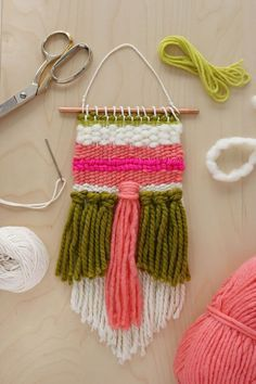 If you learn one new medium this summer, let it be how to weave. It's one of those centuries old traditions that is both practical (in certain forms) and beautiful and can be sort of soothing to the soul. Wall hangings are a great way to cut your teeth on weaving and add instant charm to your space. This tutorial is a simple wall hanging with a few different elements...