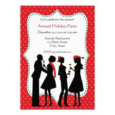 Holiday Office Party Invitations Christmas birthday party Party