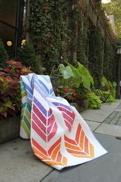 Jelly Roll Zig Zag quilt (free pattern) by Benartex | Project | Quilting / Quilts | Kollabora