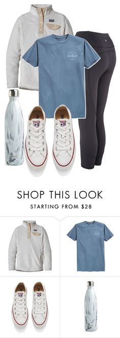 """outfit tomorrow"" by niamhbrid on Polyvore featuring Patagonia, Quiksilver, Converse and S'well"