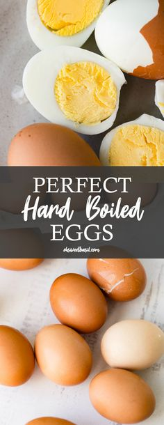 How to Make Perfect Hard Boiled Eggs - Oh Sweet Basil These delicious hard boiled eggs are a cinch to make, if you do it correctly Hard Boiled Egg Recipes, Making Hard Boiled Eggs, Perfect Hard Boiled Eggs, Side Dishes Easy, Side Dish Recipes, Egg Calories, Sour Soup, Brown Eggs, Egg And I